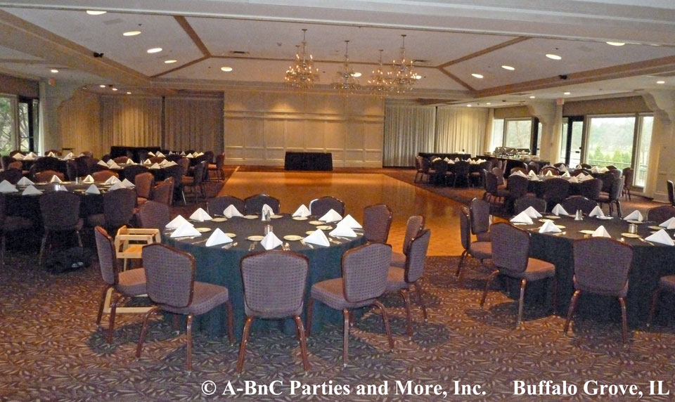 Day Of Event Party Room Set Up