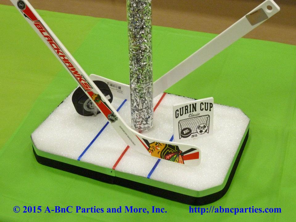 Bat Mitzvah Hockey Centerpiece Base 10