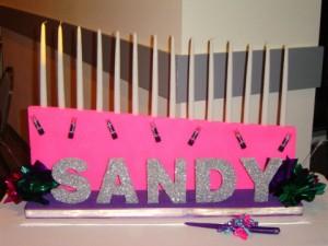 Sandy Candle Lighting for Bat Mitzvah