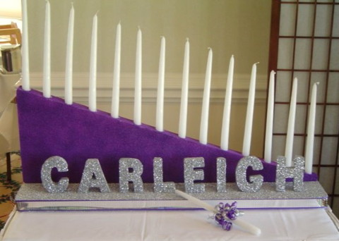 Bat Mitzvah Candle Lighting for Carleigh