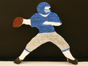 Football Cut Out - Detailed Quarterback