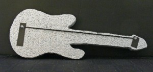 Guitar Cutout Painted With Strings Started