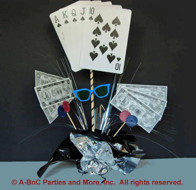 Poker Theme Centerpiece Kit
