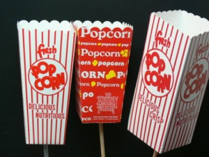 Popcorn Boxes for DIY Centerpieces