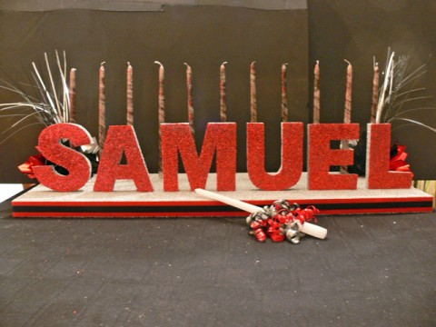 Samuel Candle Lighting for Bar Mitzvah