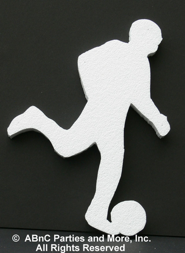 Soccer Player Sports Cut Out Plain