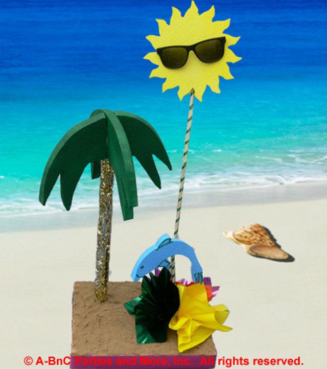 DIY Beach Theme Centerpiece Kit