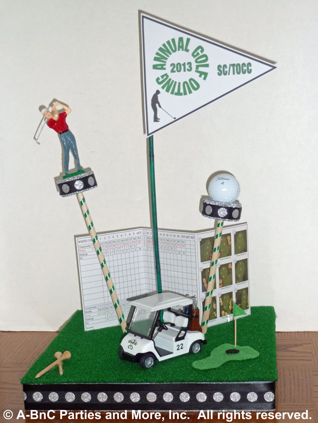DIY Golf Centerpiece Kit Sample