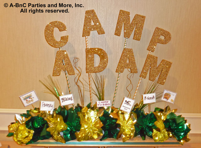 DIY Name Centerpiece Kit - Camp Adam