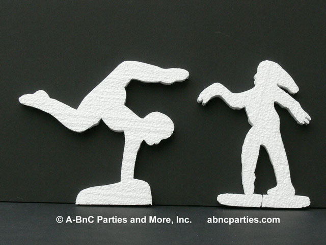 Female Gymnasts Cut Outs