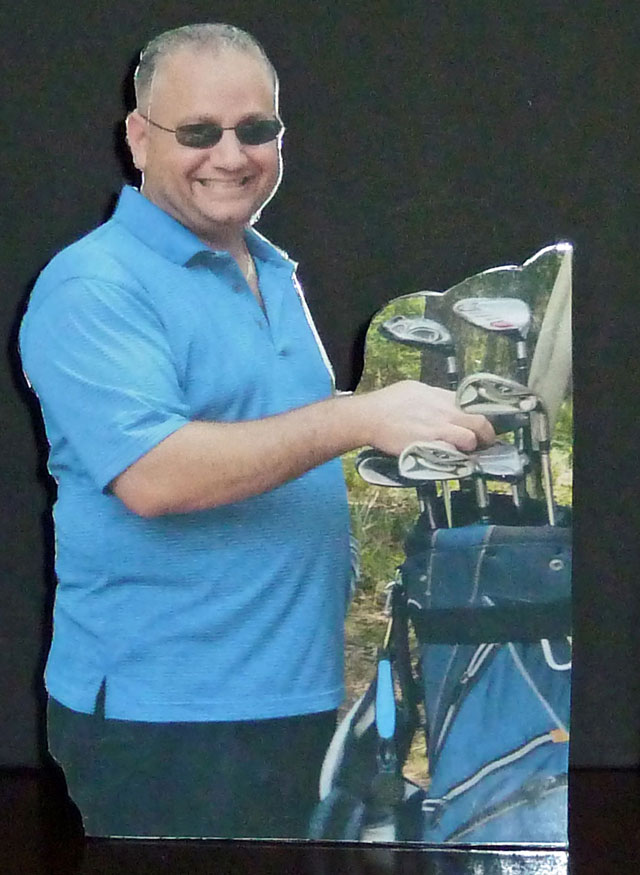 Golfer Laminated Photo Cut Outs