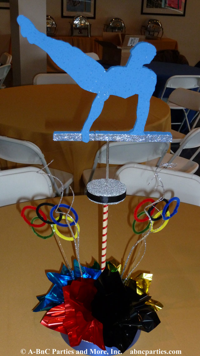 Horizontal Bar Gymnastics DIY Centerpiece Kit
