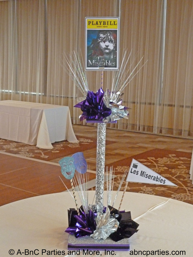Flexible plastic centerpiece tubes party planning and