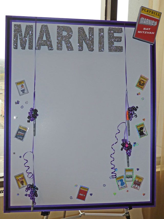Marnie Bat Mitzvah Sign In Board