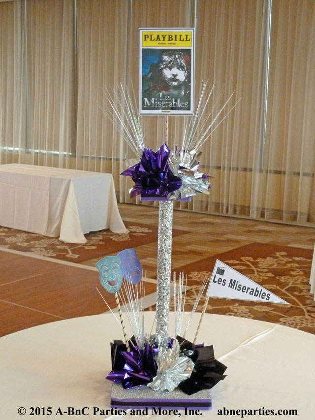Theater Play Theme Centerpiece - Les Miserables