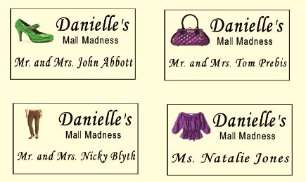 Danielle's Custom Party Place Cards