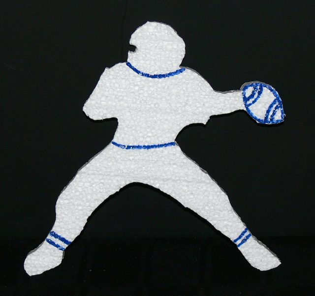 Football Theme Sports Cut Out -detailed Quarterback