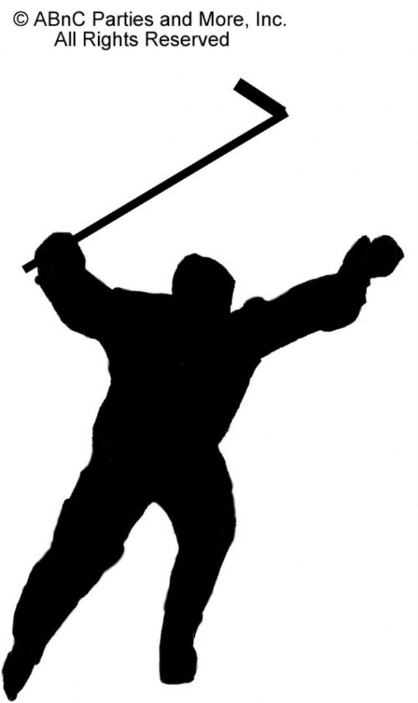 It's A Goal Ice Hockey Player Cut Out