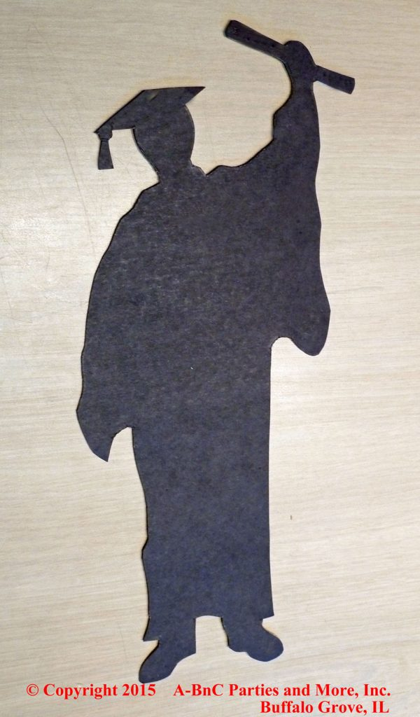Male Graduation Centerpiece Silhouette Cut Out 01