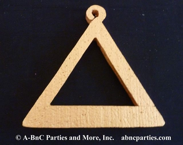 Musical Triangle Cut Out