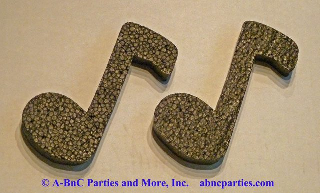 Painted Music Note Cut Outs