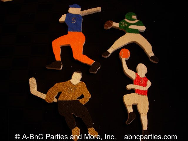 Various Custom Painted Sports Cut Outs