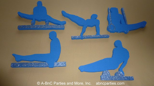 Various Gymnast Cut Outs