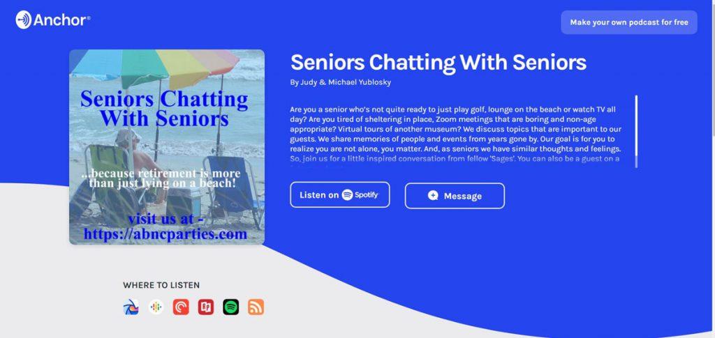 Senior-Chat on anchor.fm
