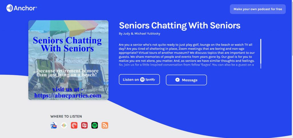 Senior-Chat on anchor.fm